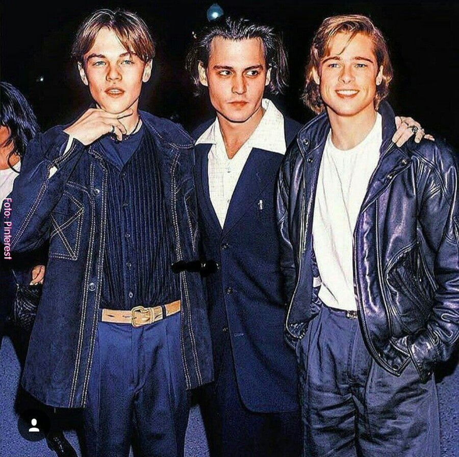 Parejas explosivas de Hollywood Leonardo, Brad y Johnny
