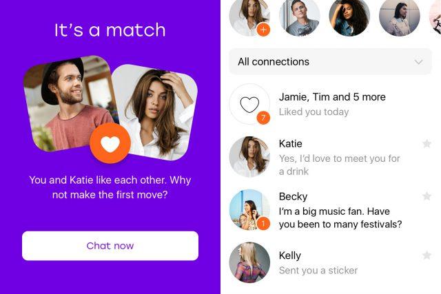 Print de la app para parejas Badoo