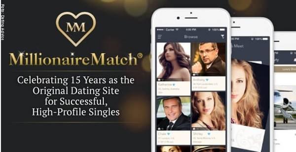 Imagen de la app para conseguir pareja Millionaire Match
