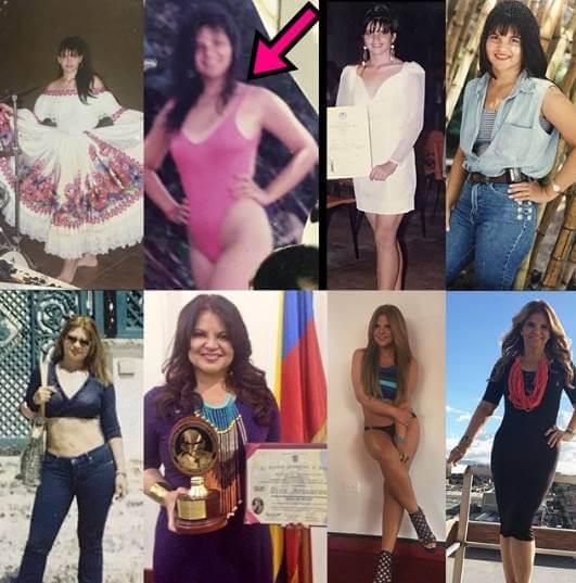 Varias fotos de Diva Jessurum a través del tiempo