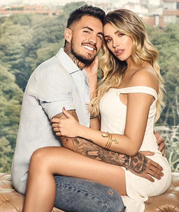 Melina Ramírez embarazada y Mateo Carvajal