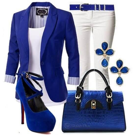 Foto de outfit blanco y azul