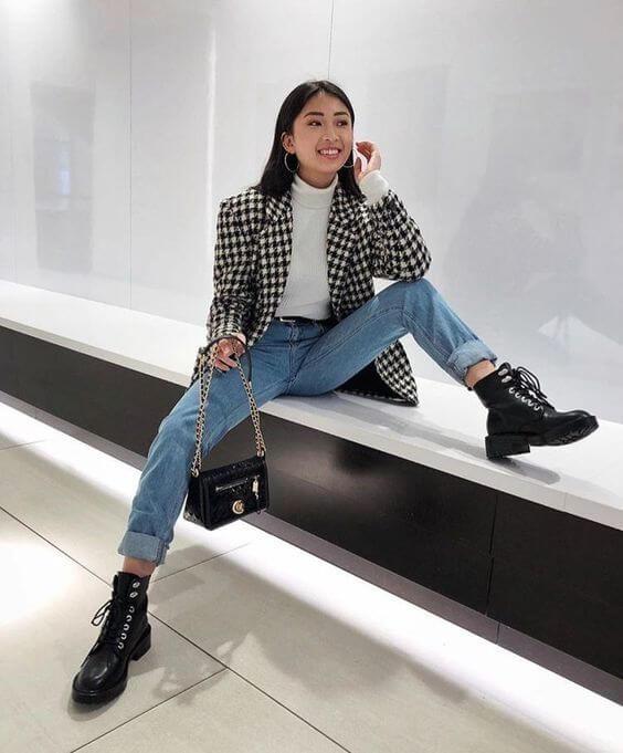 Foto chica con chaqueta