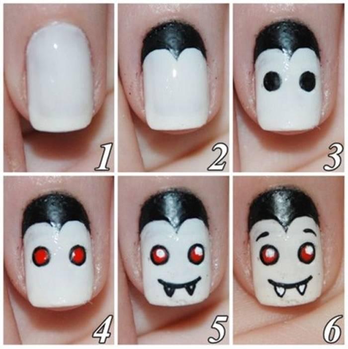 Foto de paso a paso manicure vampiro