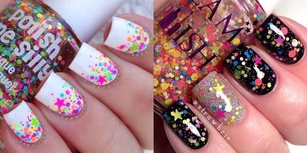 Foto de uñas decoradas para niñas: estrellitas