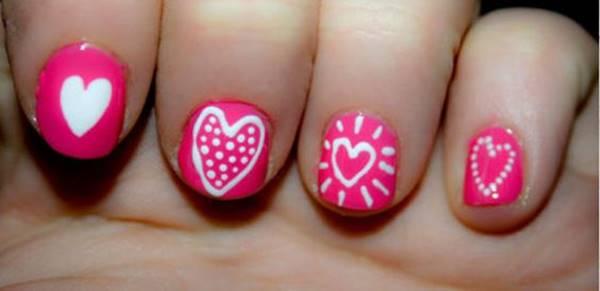 Foto de decoración de uñas para niñas: rosado Barbie