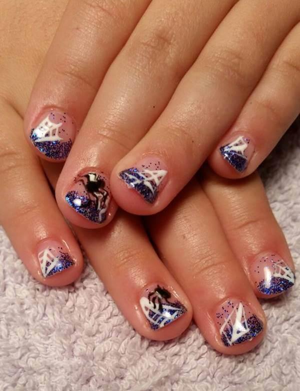 Foto de decoración de uñas para niñas: araña