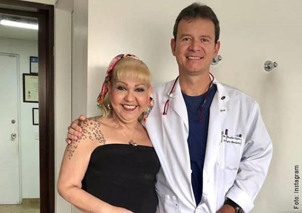 Imagen de La Gorda Fabiola con un doctor