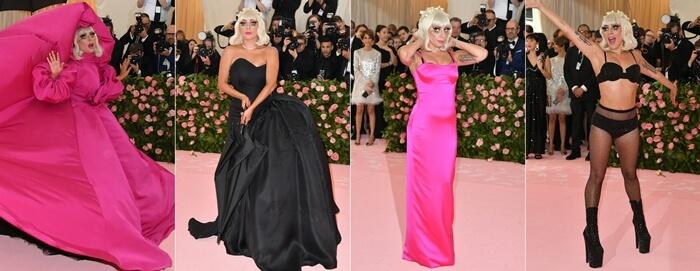 Foto de Lady Gaga en sus 4 cambios de ropa del MET Gala 2019