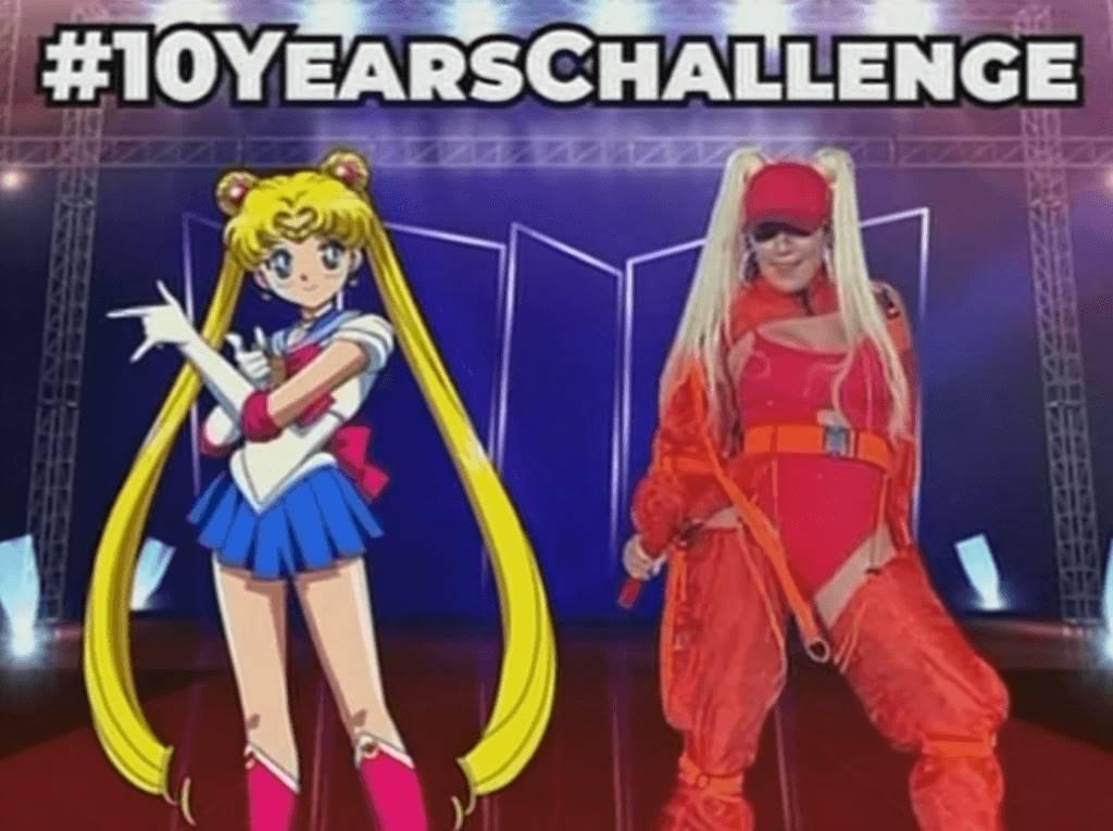 Meme de Karol G comparándola con Sailor Moon