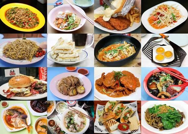 Temas de conversación divertidos: foto de varios tipos de comida