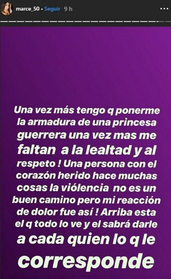 Mensaje de Marcela Reyes a sus seguidores