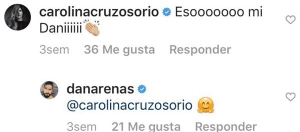 Comentario de Carolina Cruz a Daniel Arenas