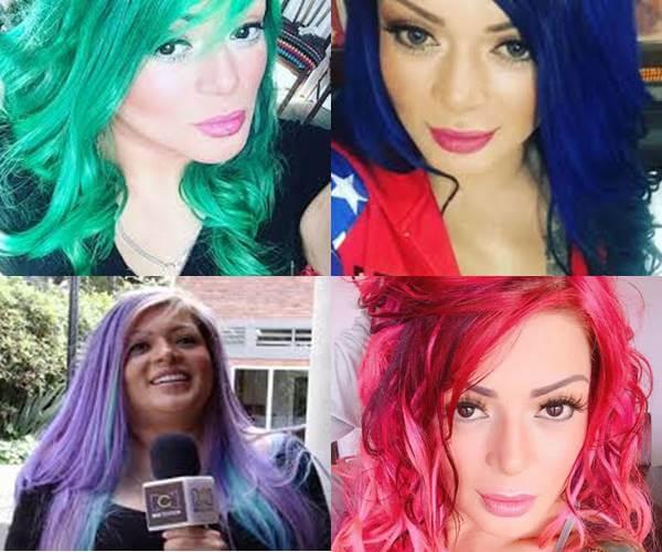 Fotos de Marbelle con pelo de diferente color
