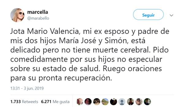 Trino de la esposa de Jota Mario Valencia