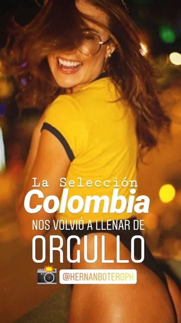 Sara Uribe con camiseta de Colombia