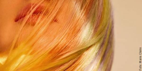 Foto de pelo de colores