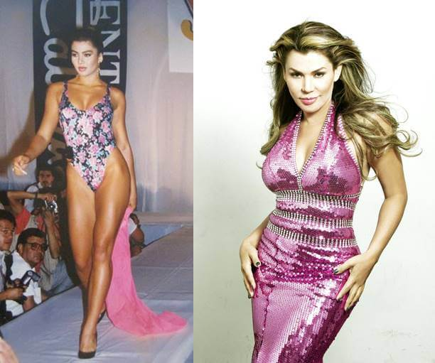 Foto de cuerpo entero de esta actriz antes y depués