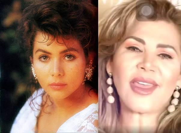 Foto de Lady Noriega joven vs. hoy