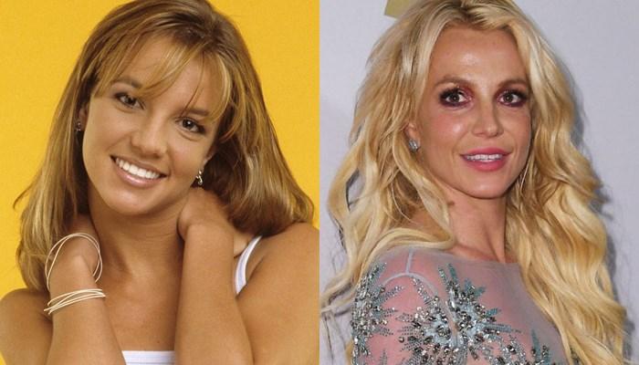Britney Spears antes y ahora