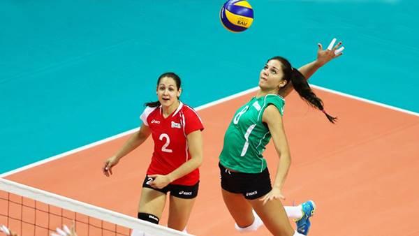 Foto de chicas jugando voleiball