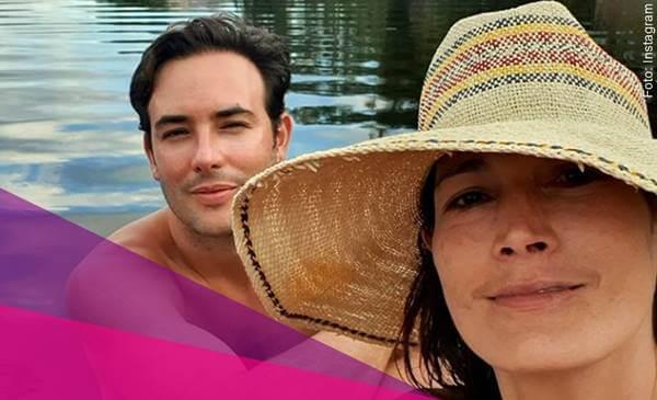 Foto de Sebastián Marínez con su esposa