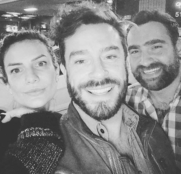 Mabel Moreno, Juan Pablo Espinosa y su novio