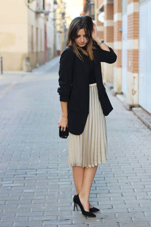 Foto de chica con falda