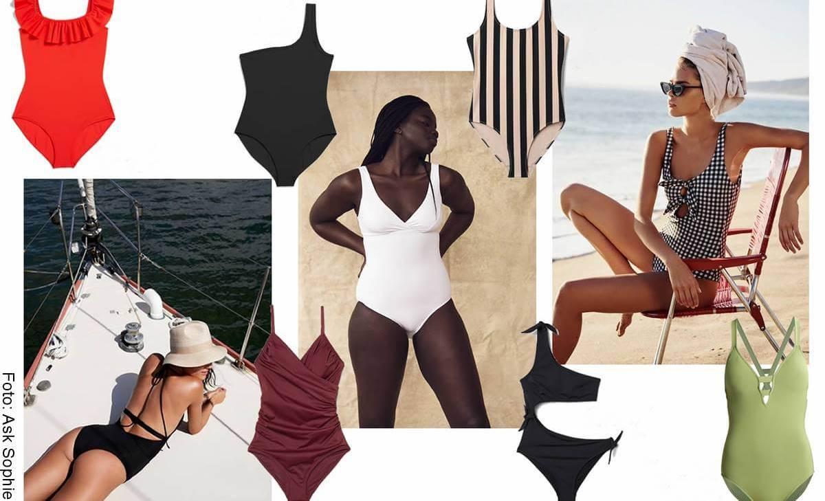 Vestidos de baño enterizos según tu tipo de cuerpo