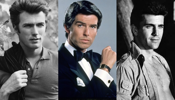 Padres E Hijos papacitos, Clint Eastwood, Pierce Brosnan y Mel Gibson.