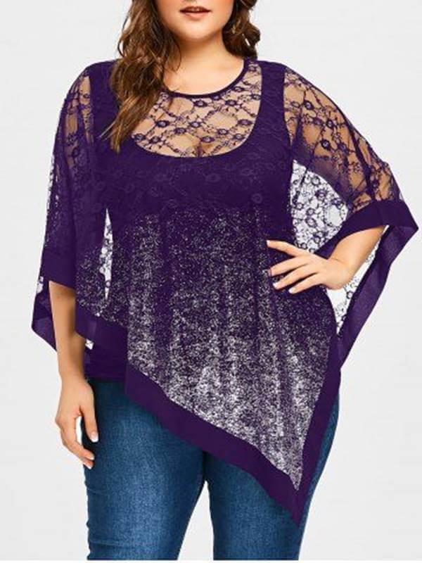 Foto de chica con una de las blusas para gorditas y bajitas que recomendamos