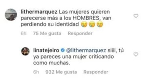 Respuesta de Lina Tejeiro a quienes la critican