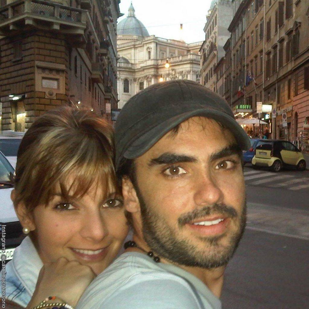 Foto de Carolina Cruz y Lincoln Palomeque juntos en Roma