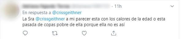 Print de críticas en Twitter