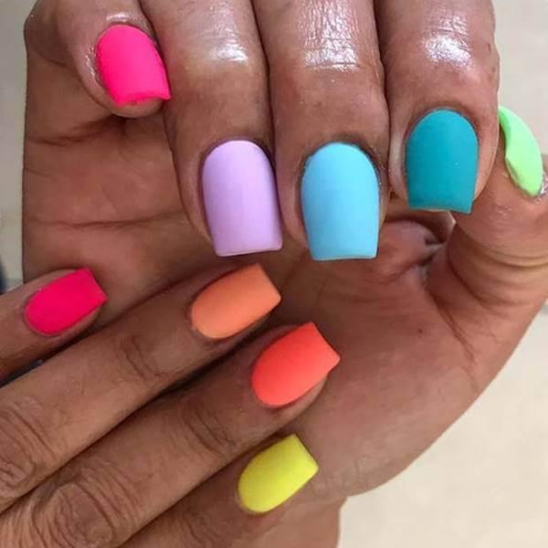 7 Ideas Para Pintar Tus Uñas De Varios Colores Divinas