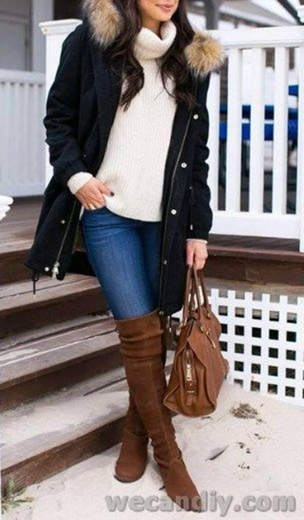 Foto de chica con una de las chaquetas de invierno para mujer