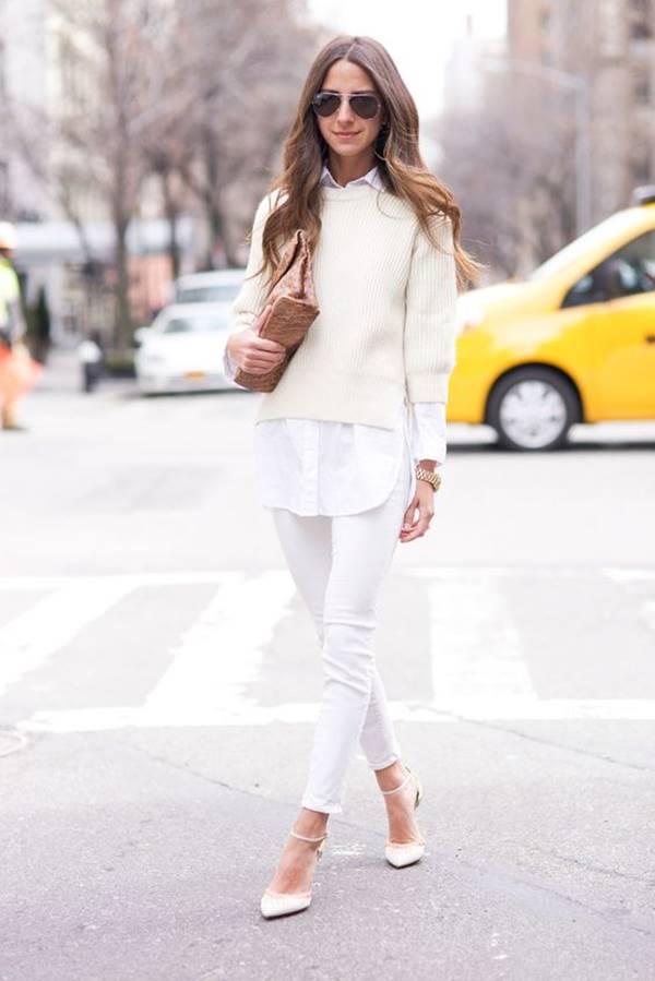 Foto de chica con jeans con tacones