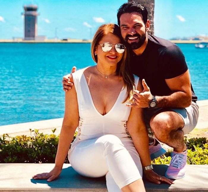 Diva Jessurum y Rafael viajando