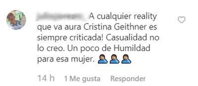 Comentarios a Aura Cristina