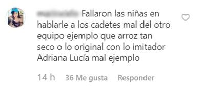 Comentarios a Adriana Lucía