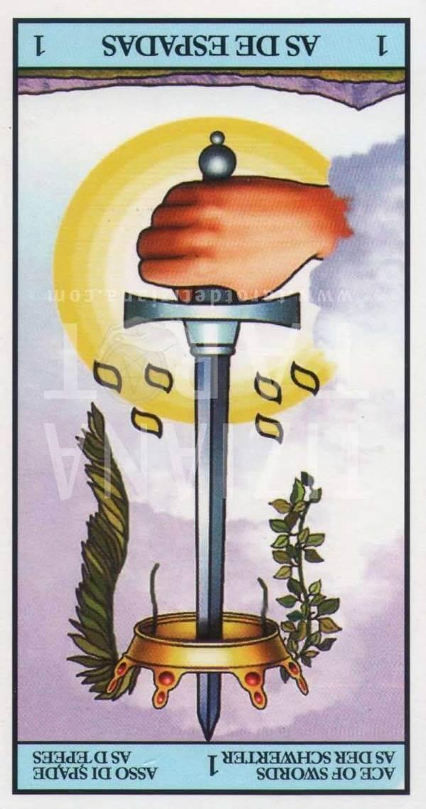 Imagen de carta As de espadas reverso