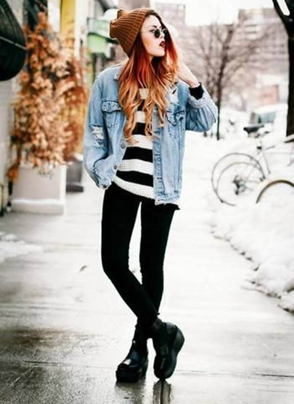Foto de esta chica usando este outfit