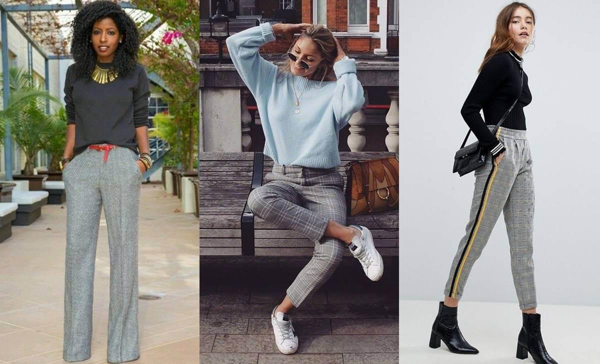 9 ejemplos divinos de outfit con pantalón gris; ¡para copiarte ya!