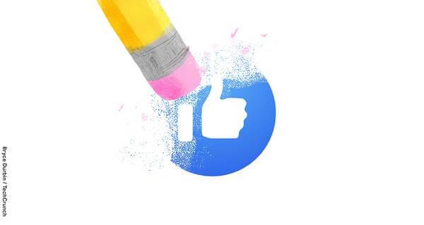 Imagen del logo de Facebook borrado