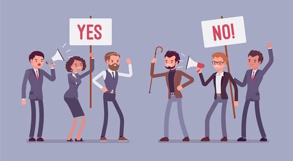 Imagen ilustrativa de polarización social