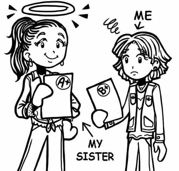 Imagen de hermanas comparándose