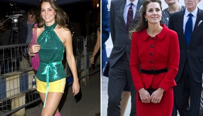Kate Middleton antes y ahora