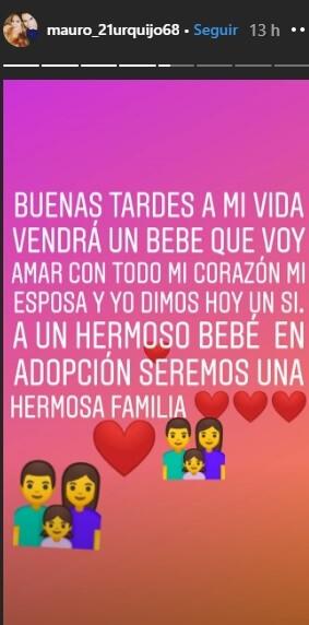 Mauro cuenta que adoptará un hijo con María Gabriela isler