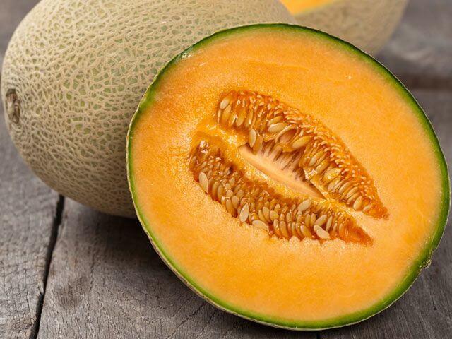 Foto de un melón partido