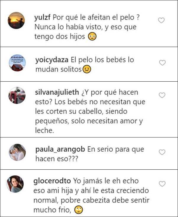 Print de comentarios en las redes de Laura Londoño